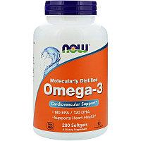 Омега-3 Now Foods (200  желатиновых капсул)