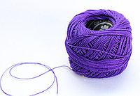 """Нитки для вязания """"Ирис"""", фиолетовые"""