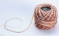 """Нитки для вязания """"Ирис"""", бело-коричневые"""
