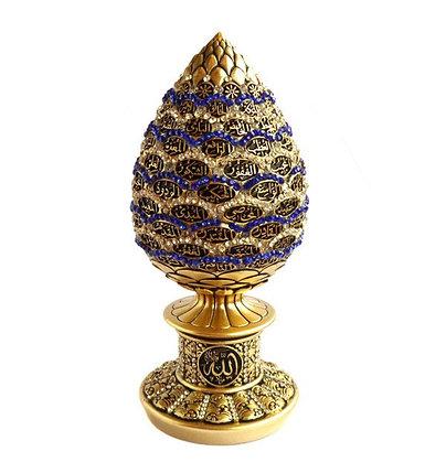 Сувенир в виде яйца с 99 именами Аллаха (золотистый), фото 2