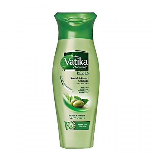 Шампунь для волос питание и защита Dabur Vatika Naturals Nourish & Protect (200 мл)