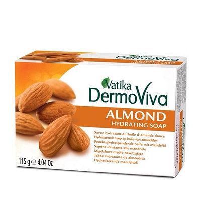 Увлажняющее мыло Dabur Vatika DermoViva Almond, фото 2