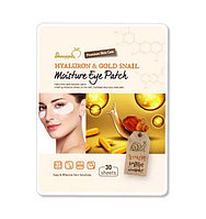 Гидрогелевые патчи Shinapple Hyaluron & Gold Snail Moisture Eye Patch (33 г)