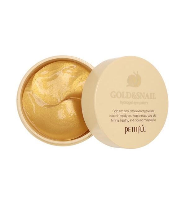 Гидрогелевые патчи с золотом и секретом улитки против морщин Petitfee Gold & Snail Hydrogel Eye Patch (84 г)