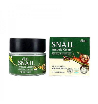 Крем для лица против морщин с улиткой Ekel Snail Ampule Cream (70 мл), фото 2