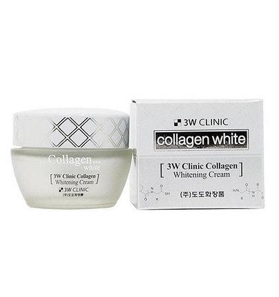 Крем для лица с морским коллагеном 3W Clinic Collagen Whitening Cream (60 мл), фото 2