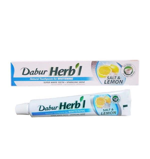 Отбеливающая зубная паста Dabur Herbal Salt & Lemon