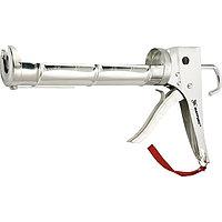 "Пистолет для герметика, 310 мл, ""полуоткрытый"", хромир., зубчатый шток 7 мм// MATRIX MASTER"