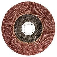 Круг лепестковый торцевой КЛТ-1, зернистость Р80(16Н), 115х22мм, (БАЗ)//Россия