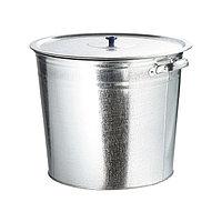 Бак для воды оцинкованый с крышкой (крышка с ручкой) 32л, без крана// Россия
