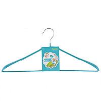 Вешалка метал для верхней одежды с прорез. противоскользящим покрытием 45 см, бирюзовая// Elfe