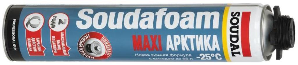 Пистолетная монтажная пена Soudal SOUDAFOAM MAXI АРКТИКА