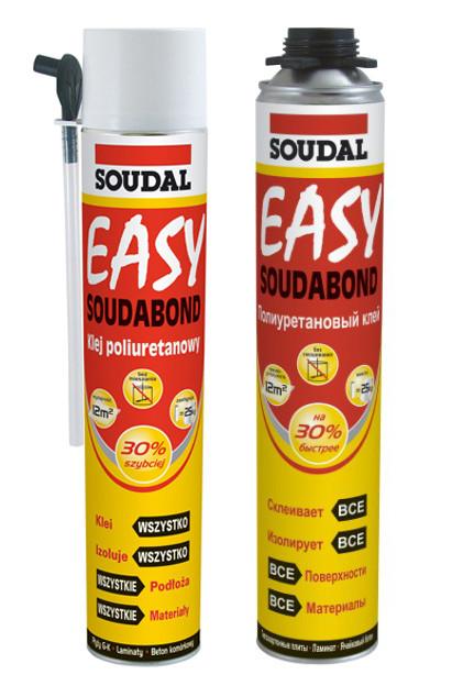 Быстросохнущий полиуретановый клей Soudal Soudabond Easy