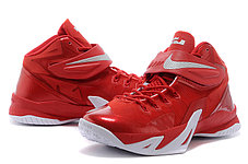 Кроссовки Nike LeBron Zoom Soldier 8 Systems красные, фото 3