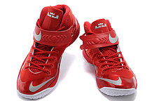 Кроссовки Nike LeBron Zoom Soldier 8 Systems красные, фото 2