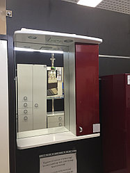 "Зеркало Lindis ""Аллегро 60"" шкафчик справа с п/свет, Бордовый металлик   *"