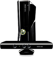 X-BOX 360E Slim Pal 4GB+Kinekt Black