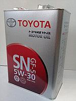 Замена масла в двигателе Toyota Highlander 2.4 (масло + фильтр)  оригинальное моторное масло тойота 5W30, фото 1