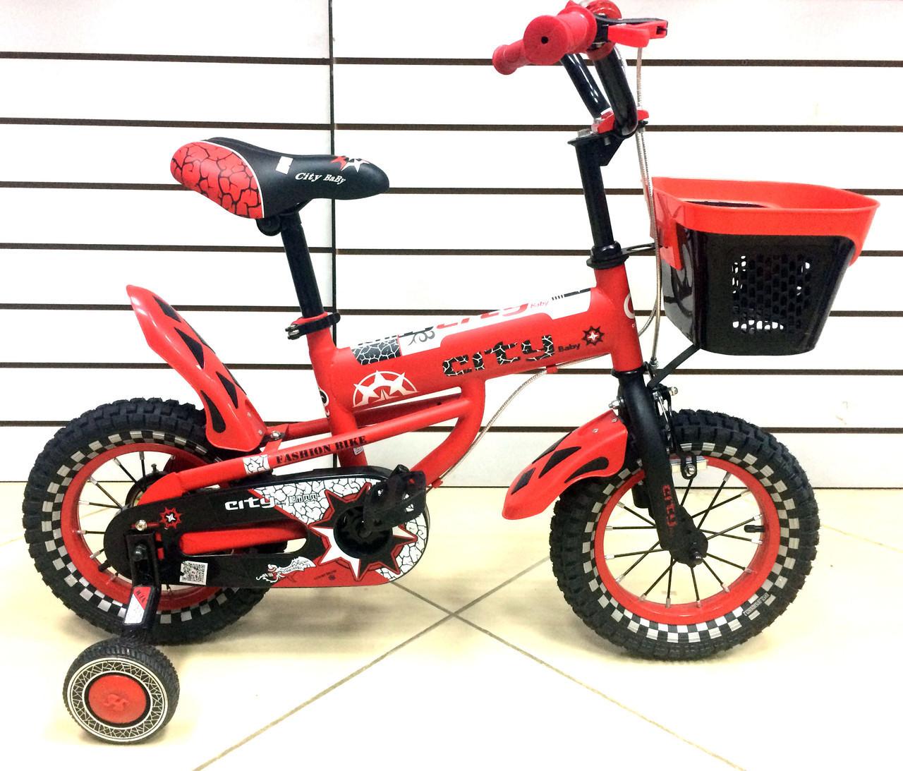 Детский велосипед City Baby 12 Red