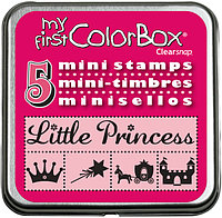 Набор мини штампов КолорБокс (MY FIRST COLORBOX) - PRINCESS (принцесса)