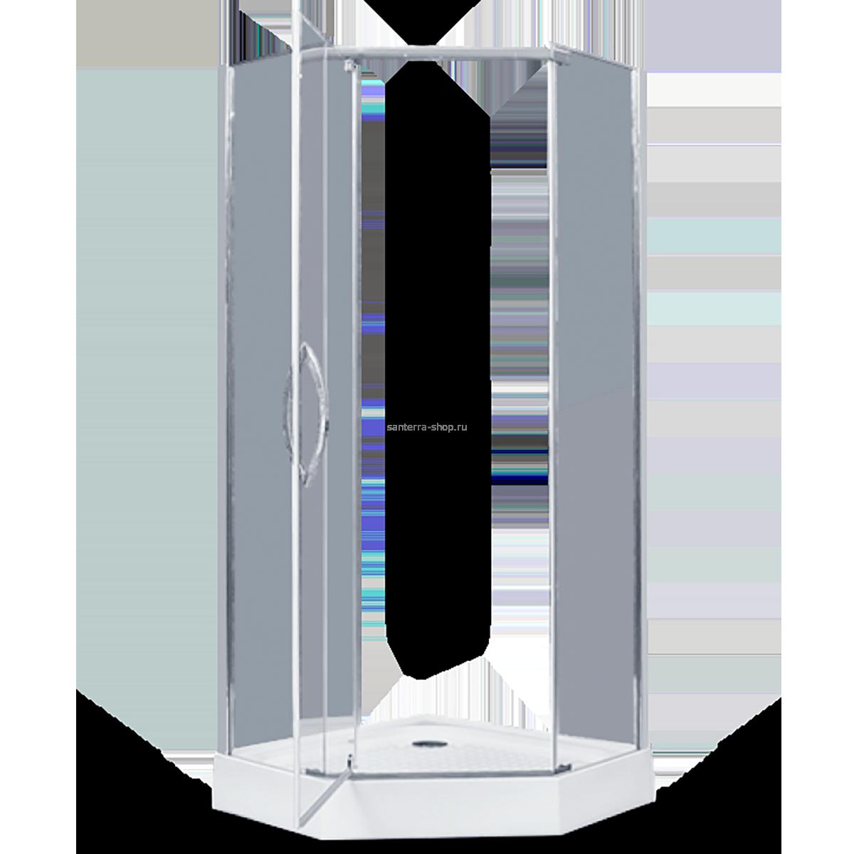 Душевое ограждение - AB215-100  1000*1000*2000 (без поддона) светлое стекло