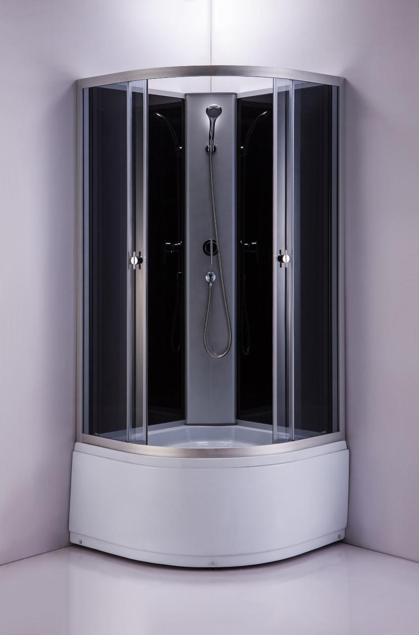Душевая кабина ER4320T-C2 1200*1200*2180 высокий поддон, тонированое стекло
