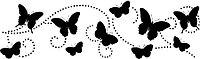 Переводки двусторонние самоклеющиеся - Butterfly Swirl (кружение бабочек)