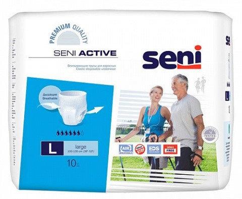 Трусики д/взрослых впитывающие Seni Active Large 10 шт, фото 2