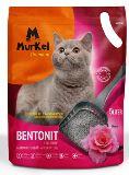 Murkel 5л Роза (круглый) Комкующийся наполнитель для кошачьего туалета, 4кг