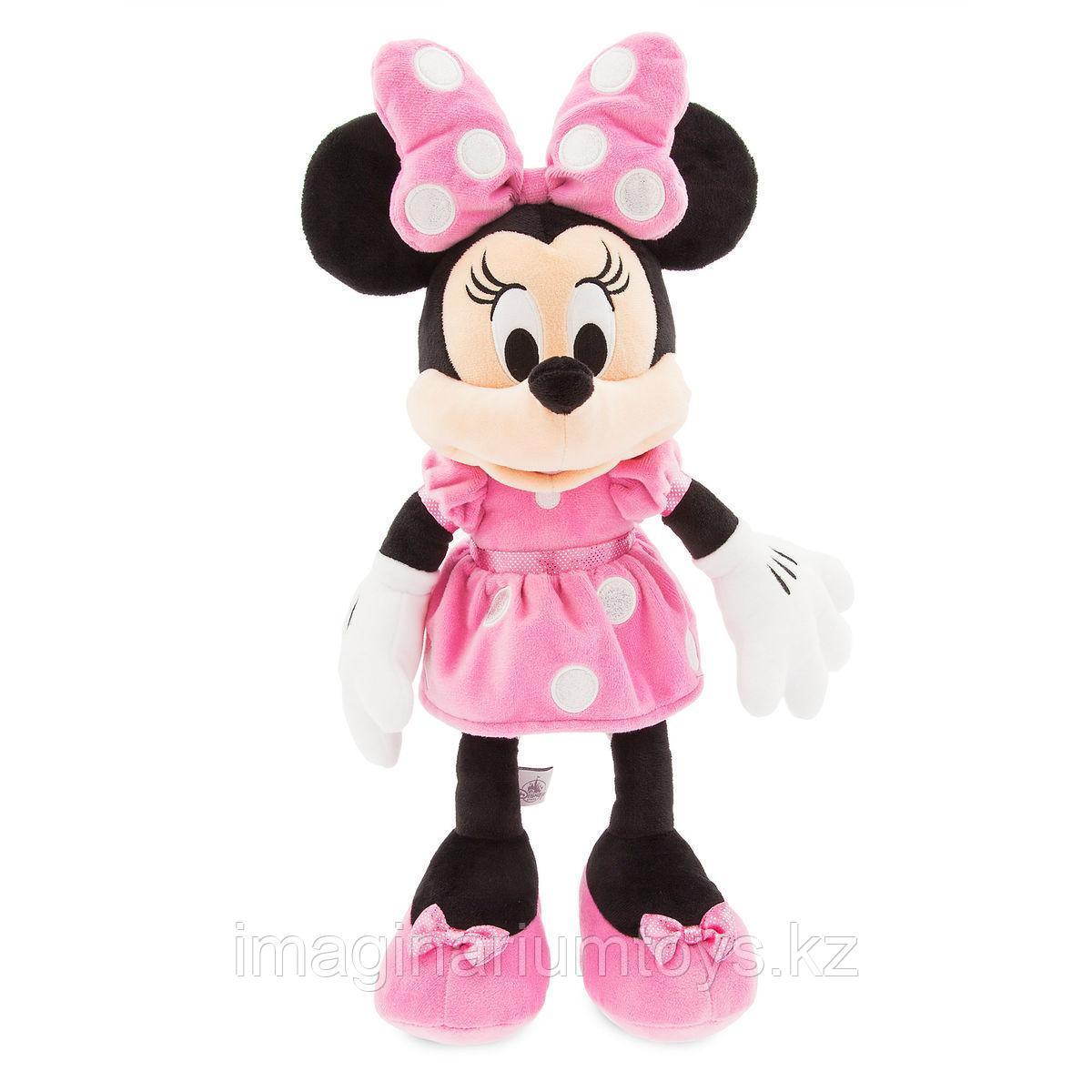 Плюшевая Минни Маус в розовом платье