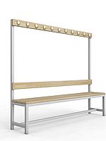 Скамейка для раздевалки c вешалкой односторонняя