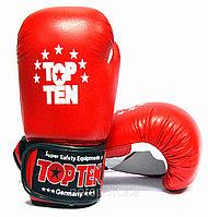 Боксерские перчатки Top Ten кожа, фото 1