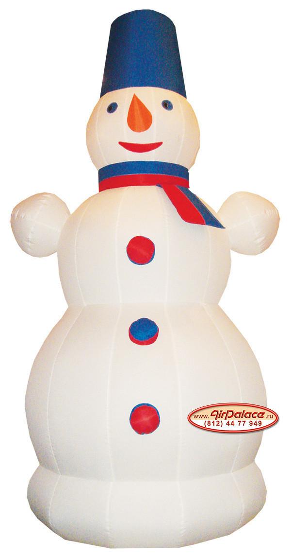 Надувной Снеговик с шарфом - купить фигуру