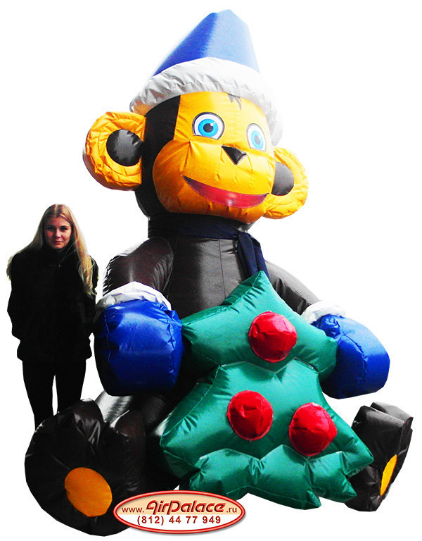 Надувная большая фигура Обезьяна новогодняя
