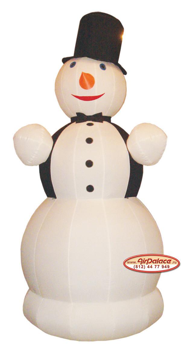 Надувной Снеговик джентльмен 3 м- купить недорого