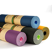 Коврик для йоги и фитнеса TPE. Профессиональный каремат (yoga mat TPE), фото 1