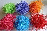 Стружка бумажная цветная для подарков в коробки и корзины
