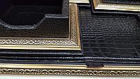 Набор настольный 7 предметов, темно-коричневый, кожа, отделка золотом, Grand, фото 3