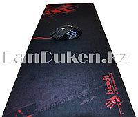 """Коврик для мышки """" A4Tech Bloody Ultra Gaming Gear"""" большой, черный с красным принтом (78x30 см)"""