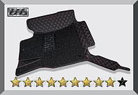 3D Коврики в салон Porsche Cayenne 2011+ Чёрные