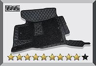 3D Коврики в салон Toyota Highlander 2014+ Чёрные
