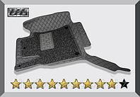 3D Коврики в салон Toyota Land Cruiser Prado 120 2003-2008 Серые