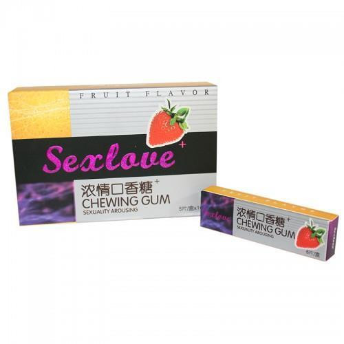 Sexlove – Жевательная резинка для возбуждения – 1 пачка (5 шт.)