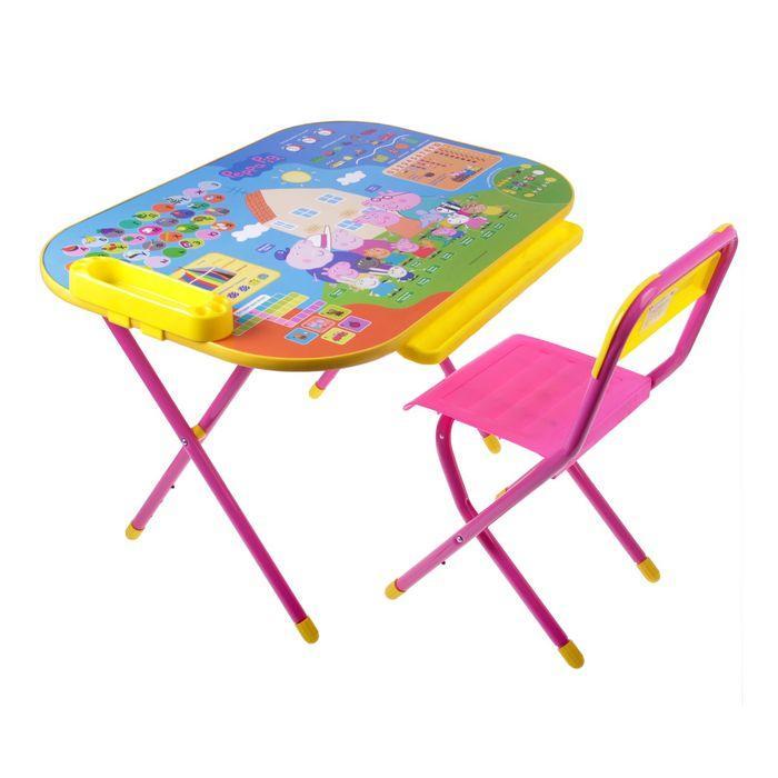 """Стол-стул """"Дэми"""" Трансформер, """"Свинка Пеппа"""" розовый"""