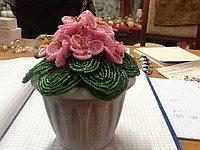 Цветы из бисера Фиалка, фото 1