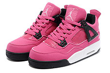 Женские баскетбольные кроссовки Nike Air Jordan 4 Retro розовые, фото 2