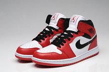 Баскетбольные кроссовки Nike Air Jordan 1 поколение бело-красные, фото 3
