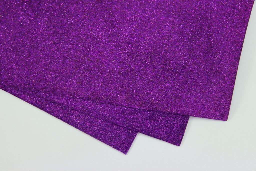 Фоамиран глиттерный, Фиолетовый, формат А3 1 лист, Алматы
