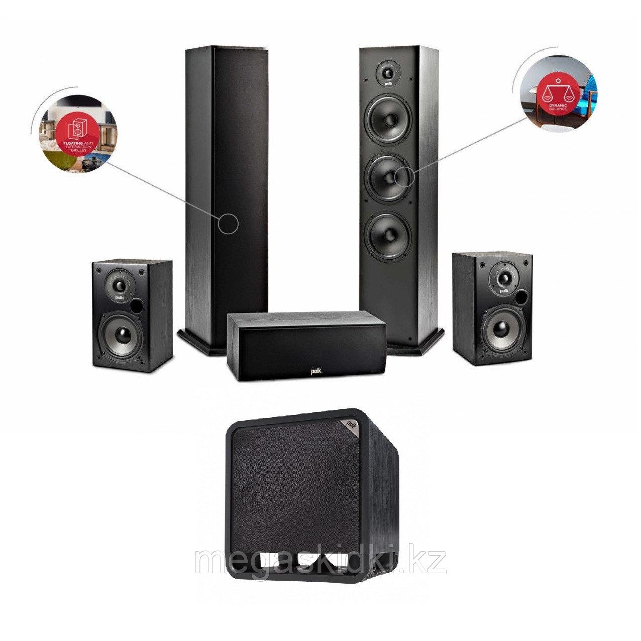 Комплект для домашнего кинотеатра 5.1 на акустике Polk Audio серии T