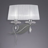 Бра Mantra Louise Wall Lamp 2L 5276 Chrome/White Shade